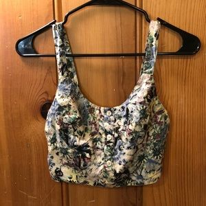 UO Pins and Needles Floral Crop Top